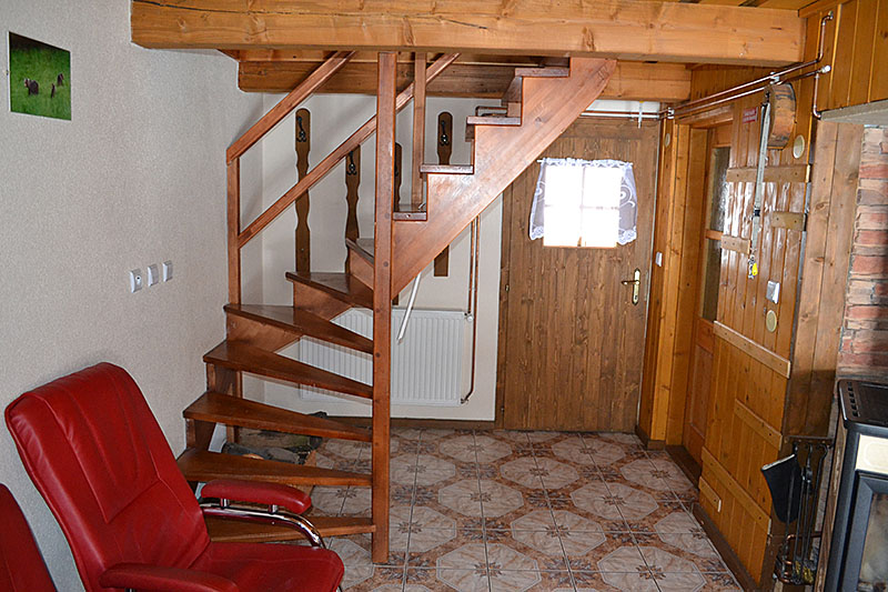 Zadná drevenica interiér